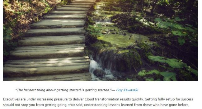 12 Steps to Get Started With The Cloud, AWS, 2017