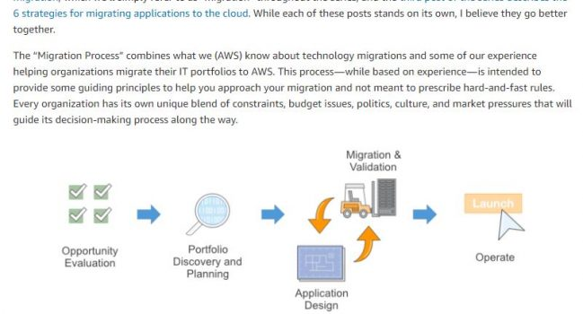 A Process for Mass Migrations to the Cloud, AWS, 2016