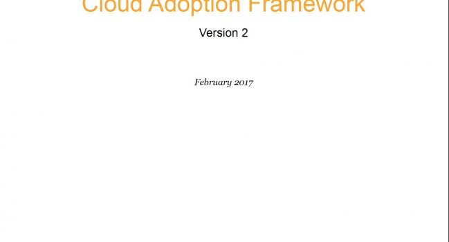 An Overview of the AWS Cloud Adoption Framework, AWS, 2017