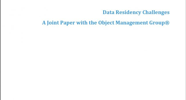 Data Residency Challenges – CSCC, 2017