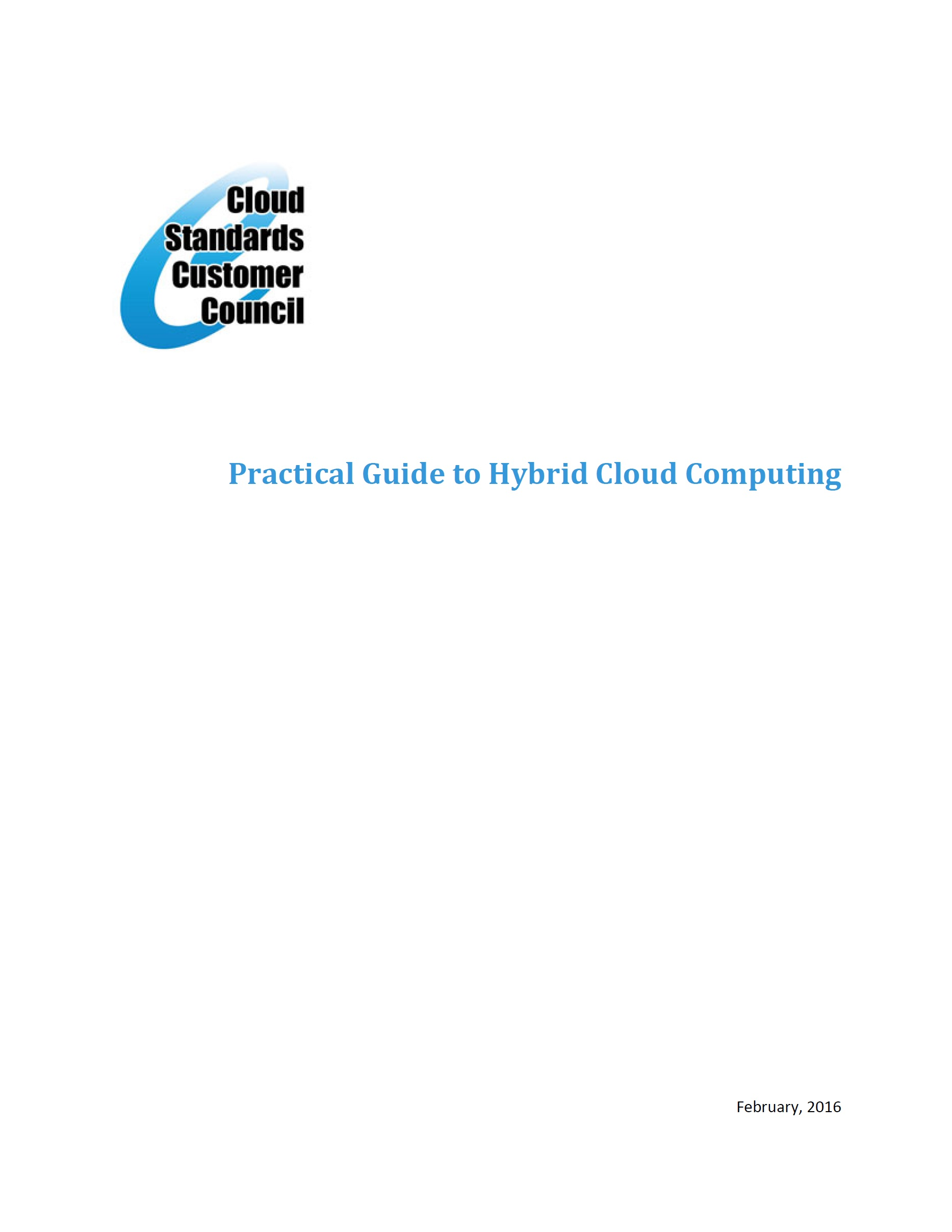 Practical Guide to Hybrid Cloud Computing – CSCC, 2016