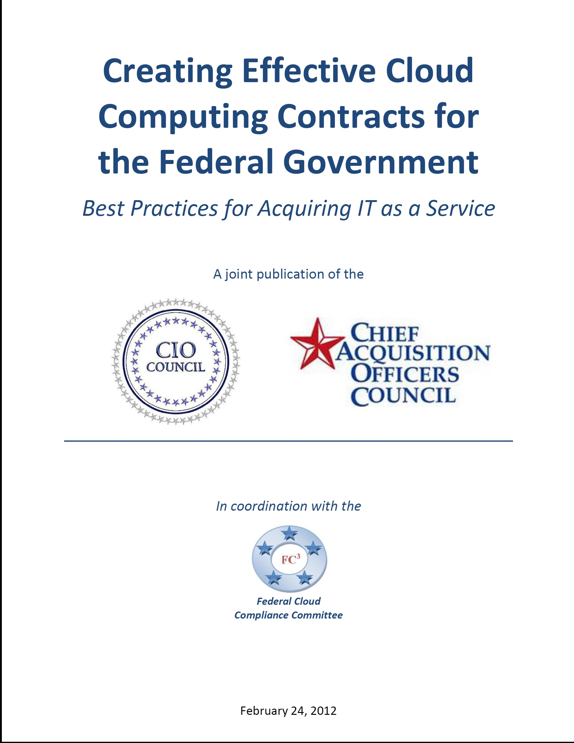 Creating Effective Cloud Computing Contracts for the Federal Government