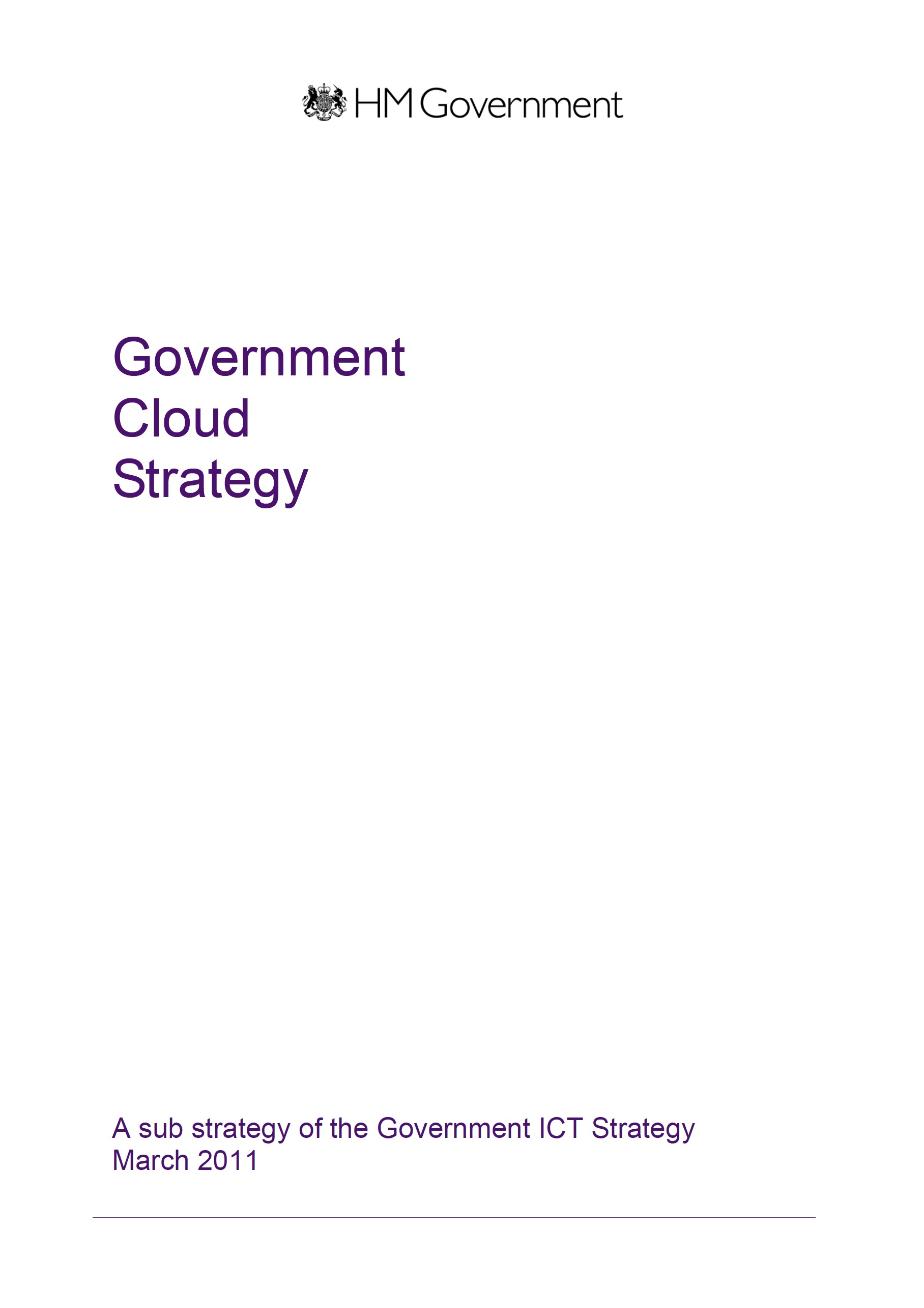 Government Cloud Strategy – Gov UK