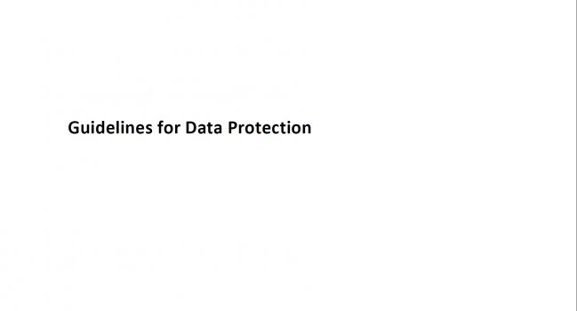 Guidelines for Data Protection, 2011