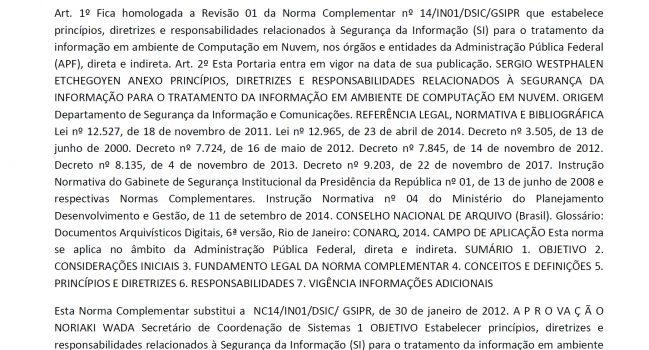 Norma – NC14-2018 – GSI-PR